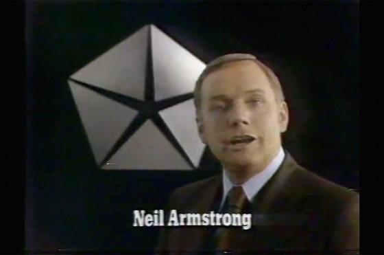 El recuerdo para Neil Armstrong como vendedor de Chrysler