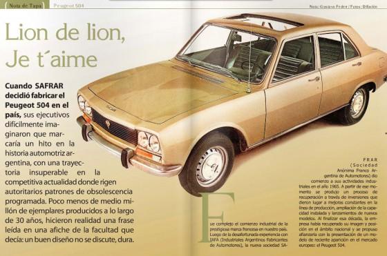 La historia del Peugeot 504 argentino.