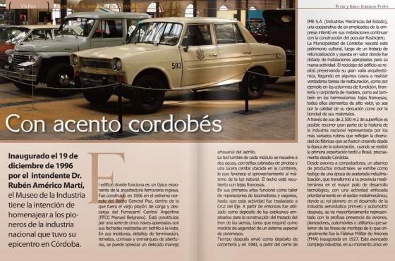 Una visita al Museo de la Industria de Córdoba.