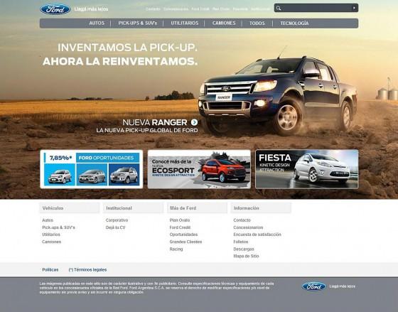 Argentina: Ford presenta su nuevo sitio web y se lanza a las redes sociales
