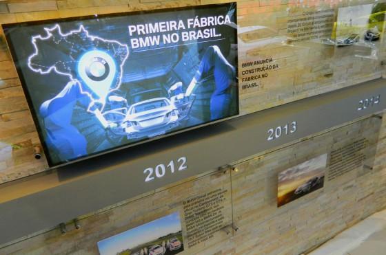 Línea de tiempo en el stand de BMW en el Salón de San Pablo.