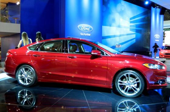 El Ford Fusion (nuestro Mondeo) en el Salón de San Pablo 2012.