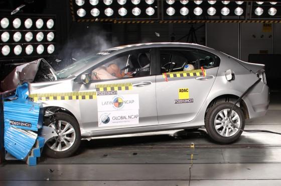 Honda City en los ensayos del LatinNCAP
