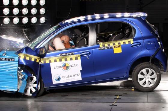 El Toyota Etios en los test del LatinNCAP