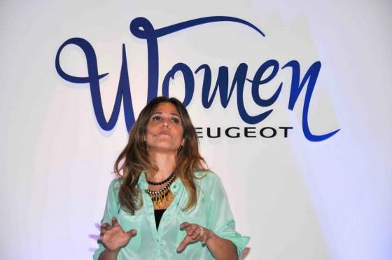 María Freytes y su monólogoen el Women by Peugeot