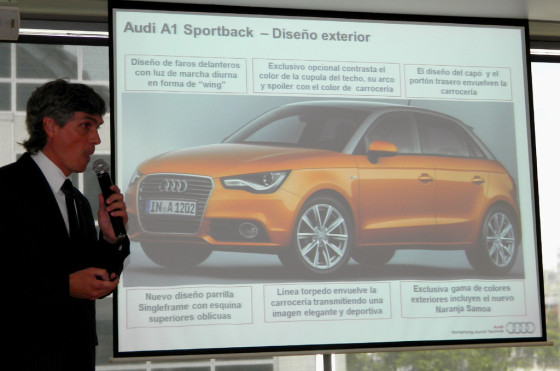 Gonzalo Cassina, responsable de marketing de Audi Argentina, habla del A1 Sportback.