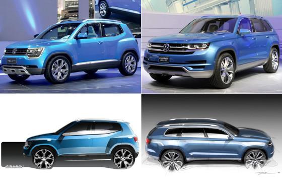 El VW Taigun y el VW CrossBlue, juntos.