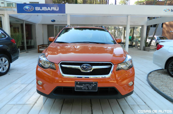 El Subaru New XV en el stand de Cariló. Foto: Cosas de Autos