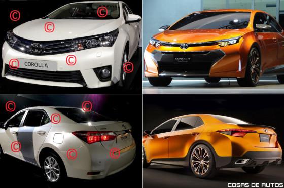El posible Toyota Corolla 2014 y el concept Corolla Furia.