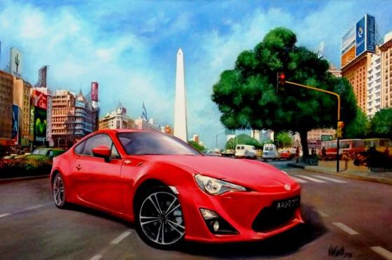 La Toyota 86 en Buenos Aires según Villafuerte.