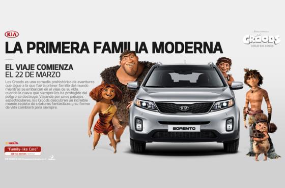 """Autos y cine: Kia Argentina se suba a la aventura de """"Los Croods"""""""