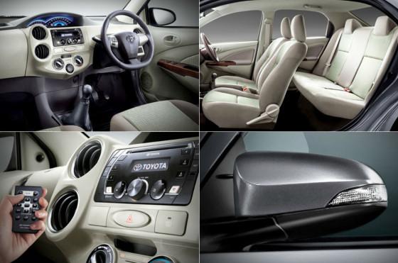 El interior del Toyota Etios