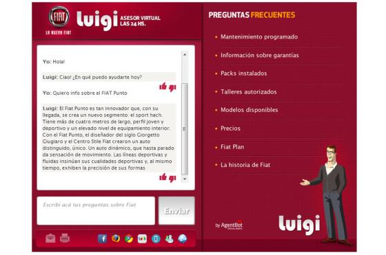 Luigi, el asistente virtual de Fiat Auto Argentina, cumplió un año
