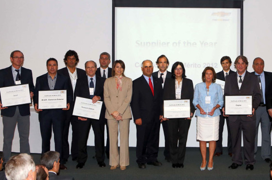 Argentina: General Motors premió a sus mejores proveedores de 2012