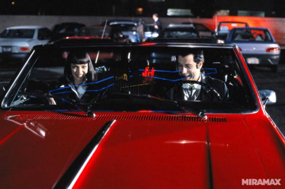 El Chevrolet Chevelle Malibu en su gran escena en Pulp Fiction.