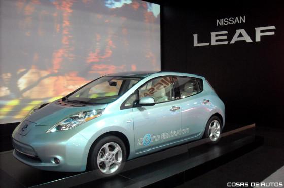 Nissan Leaf en el Salón de San Pablo 2010.