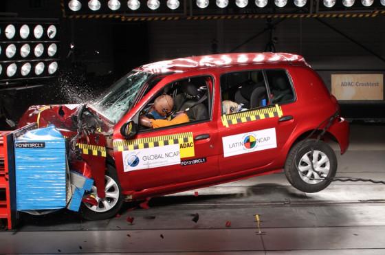 Renault Clio Mío testeado por LatinNCAP
