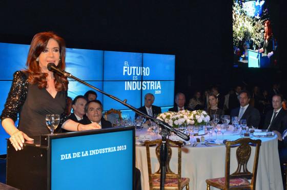 CFK en la gala del Día de la Industria
