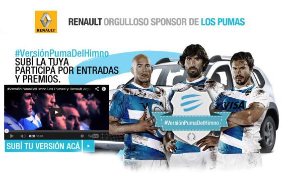 Renault premia tu pasión por Los Pumas y tu #VersiónPumaDelHimno