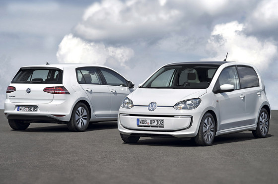 VW e-Golf y VW Up!