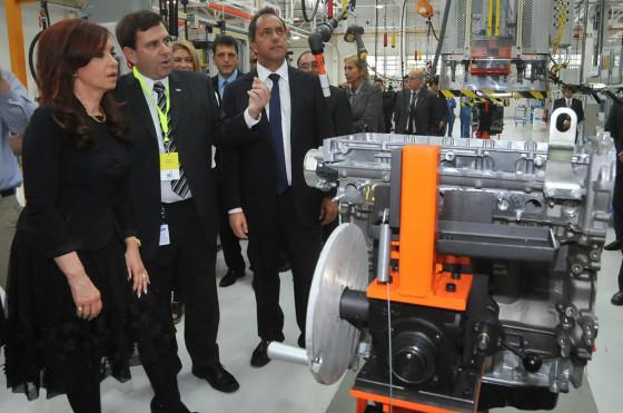 CFK en la reinauguración de la planta de motores de Ford en Pacheco.