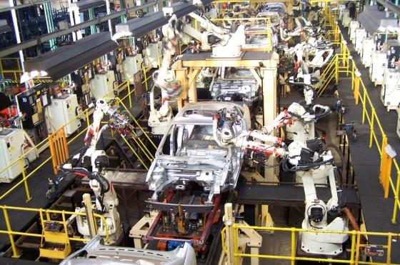 Línea de montaje actual de Ford en EE.UU.