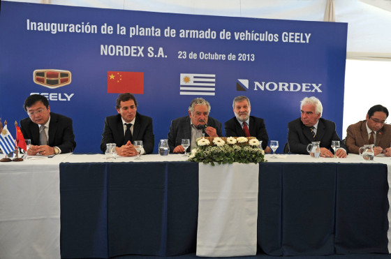 Uruguay: Geely inauguró su primera planta de armado para abastecer al Mercosur