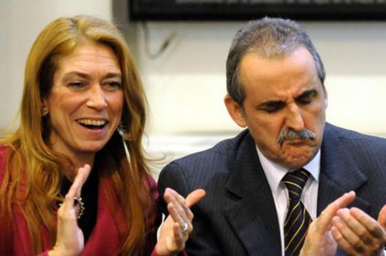 Débora Giorgi y Guillermo Moreno