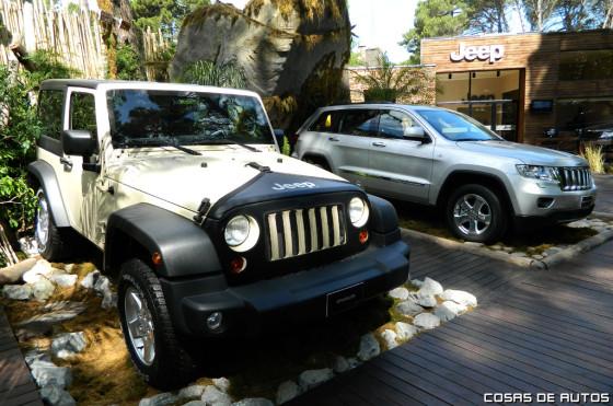 Stand de Jeep en Pinamar.