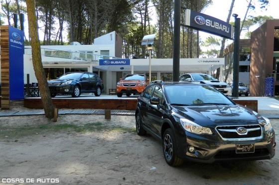 Stand de Subaru en Pinamar.