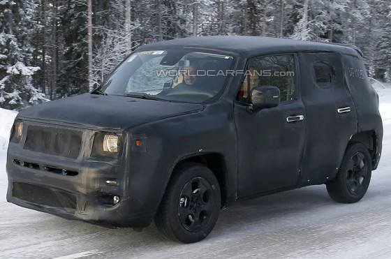Mula del Jeep Jeepster espiado en Escandinavia