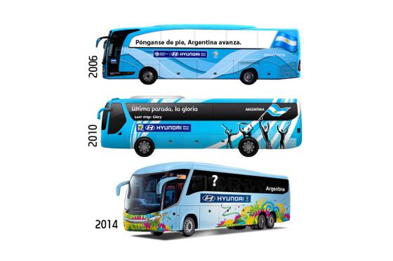 Hyundai lanza el concurso que busca la frase para el bus que acompañará a la Argentina en Brasil 2014