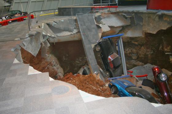 Derrumbe en el Museo Nacional de Corvette
