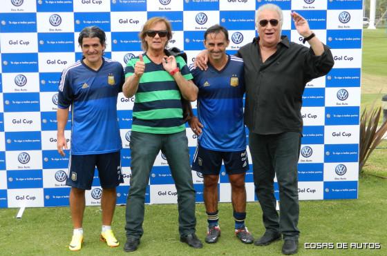 <strong>Ortega, Veira, Latorre y Basile, las celebridades que le pusieron color al evento de VW.</strong>