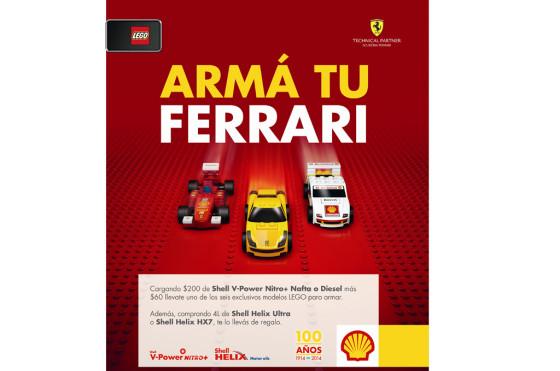 Shell y una promo para armar una colección de modelos Lego de Ferrari