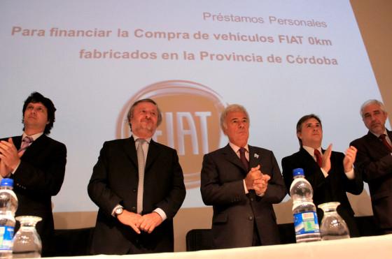 Fiat y Córdoba acordaron créditos a tasa fija para la compra de autos 0km