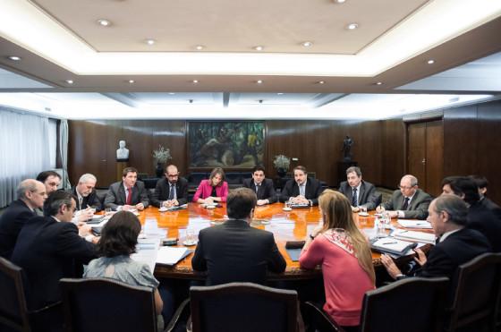 Giorgi y Kicillof con los miembros de ADEFA