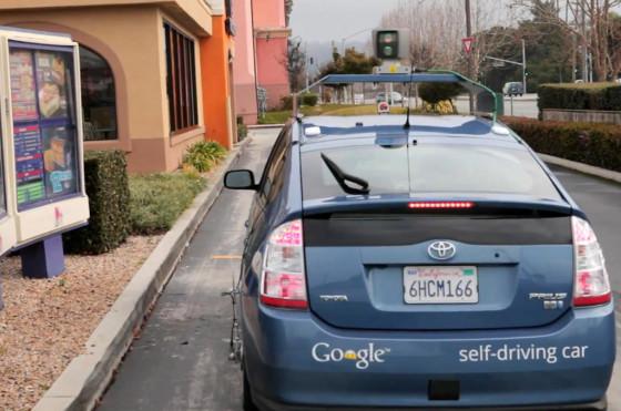 Prius con el desarrollo Google Self Driving