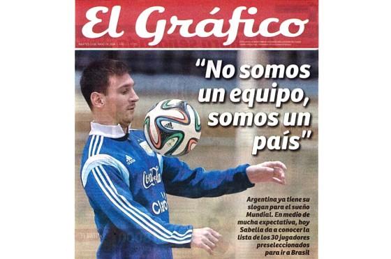 Tapa de El Gráfico del 13/05/2014