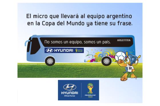 Hyundai: el bus del seleccionado argentino ya tiene frase para el Mundial Brasil 2014