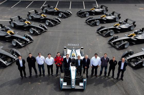 Autos y equipos en la primera prueba de la Fórmula E