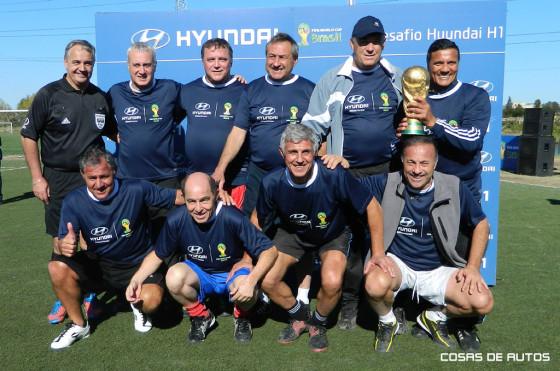 Campeones del mundo en el evento del Hyundai H1