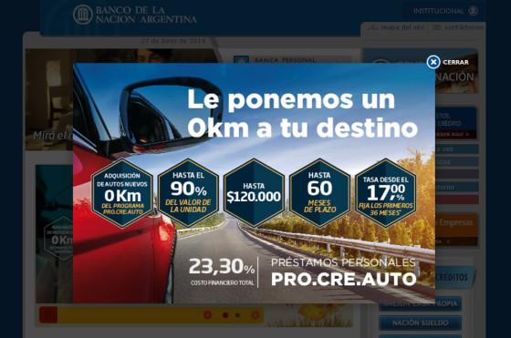 El Banco Nación ya implementó el ProCreAuto