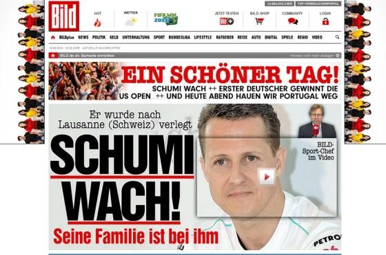 A casi seis meses de su accidente, Michael Schumacher salió del coma y fue trasladado a Suiza - Diario Bild.de