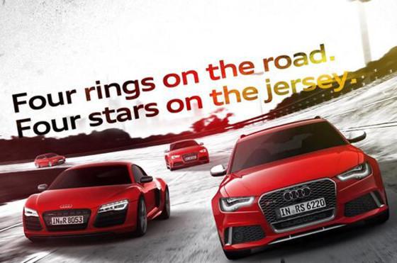 Audi celebra el campeonato de Alemania
