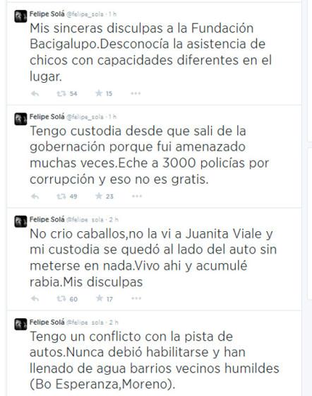 Disculpas de Felipe Solá