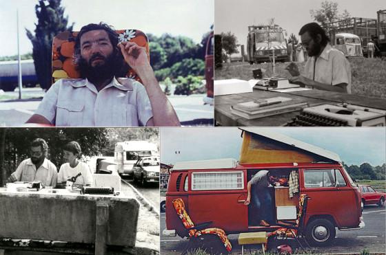 """Cortazar y Dunlop en fotos de """"Autonautas de la cosmopista"""" Collage: Cosas de Autos"""