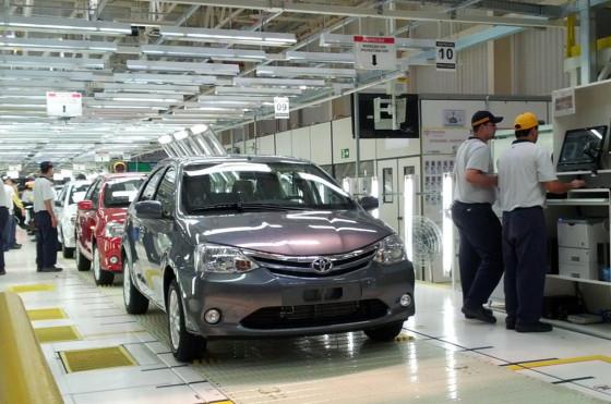 Toyota Etios en la planta de Sorocaba, SP