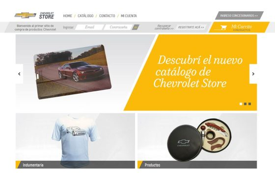 Merchandising: Chevrolet abrió su store on line
