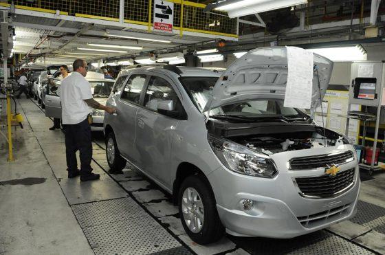Producción del Chevrolet Spin en Brasil